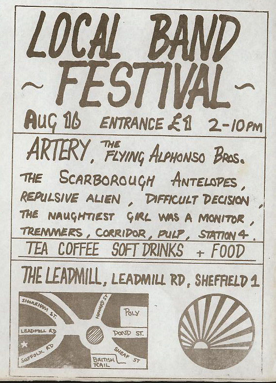 leadmill Bouquet of Steel festival poster