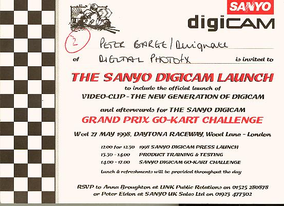 sanyo digicam go carting day