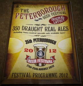 Peterborough Beer Festival programme 2012