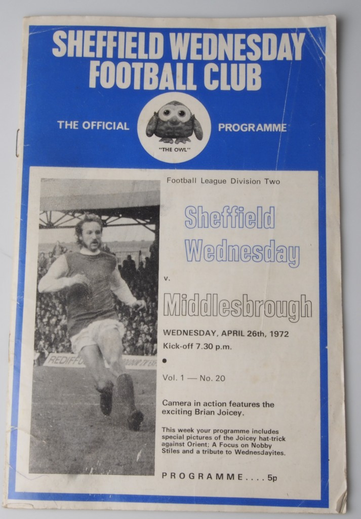Sheffield Wednesday vs Middlesbrough program