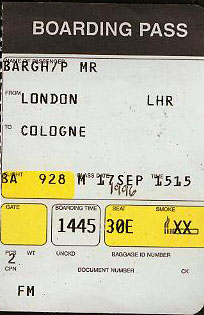 cologne flight ticket
