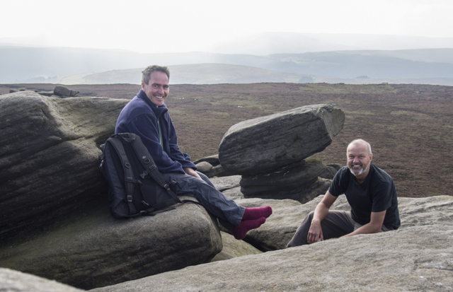 Steve and Pete at back tor