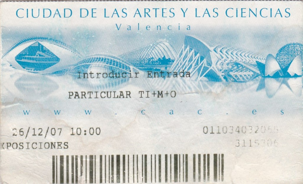 Ticket for City of Arts and Sciences