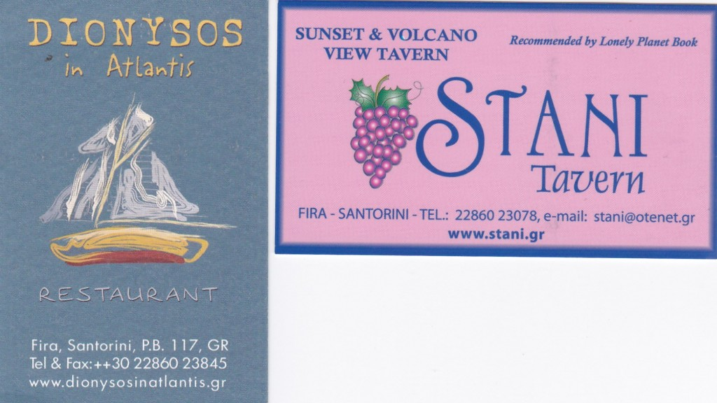 santorini business cards