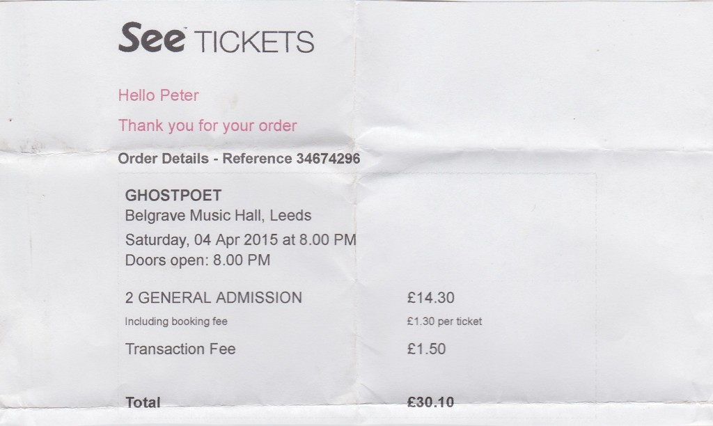 ghostpoet ticket