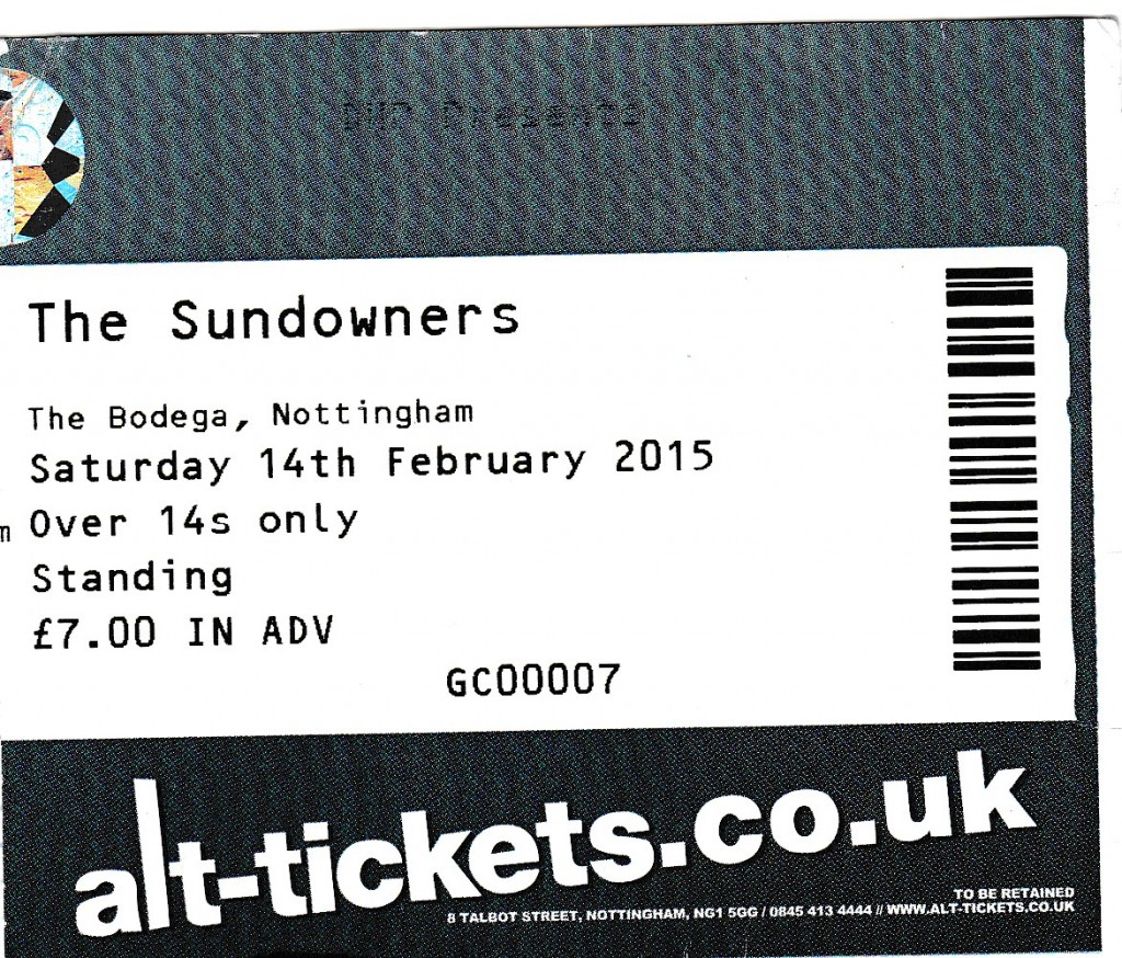 sundowners ticket