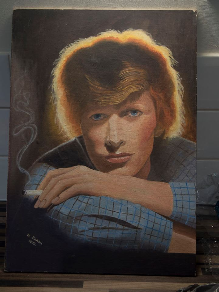 bowie oil painting