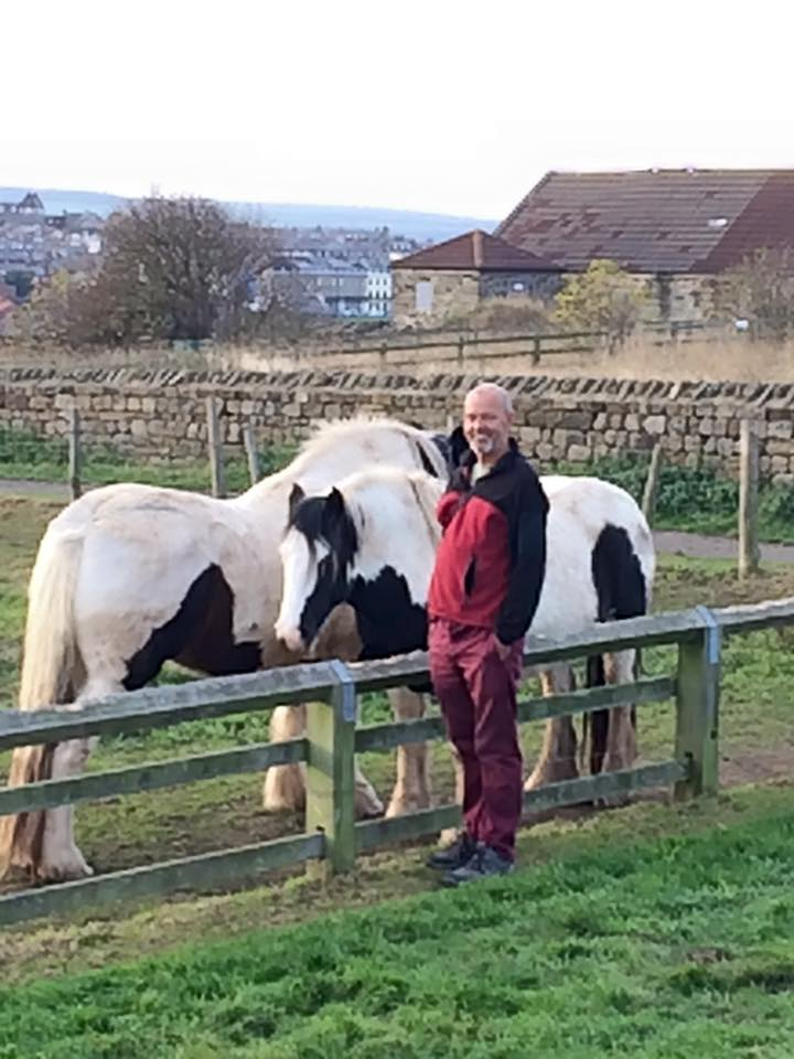 pete at whitby with horses